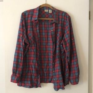 Xl women's LL bean Plaid button down